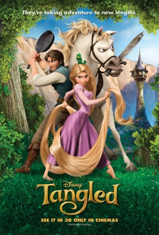 Un colorata locandina per Rapunzel - L'intreccio della torre