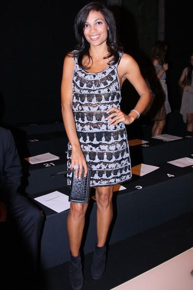 Rosario Dawson durante la Milano Fashion Week