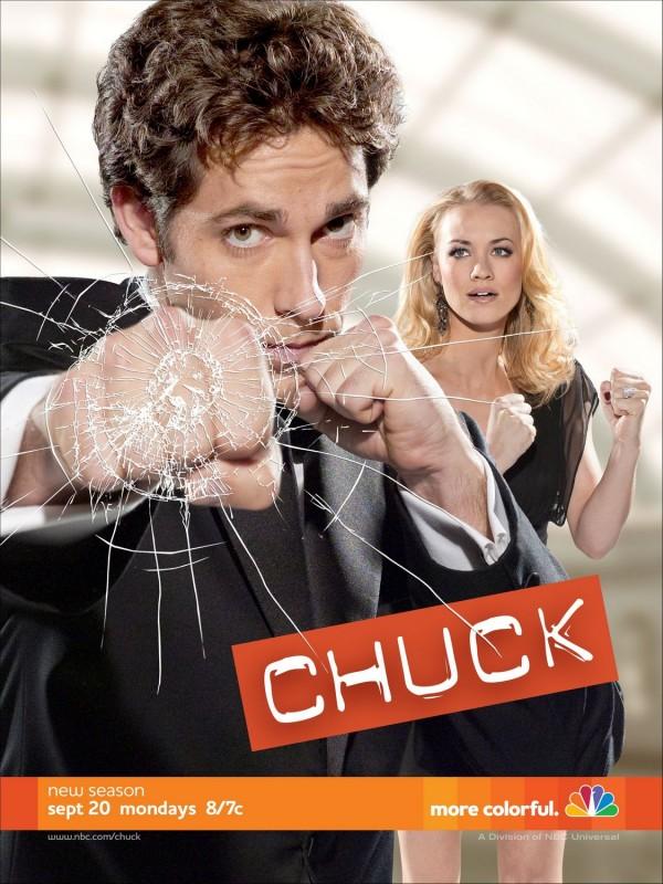 Un poster della stagione 4 di Chuck