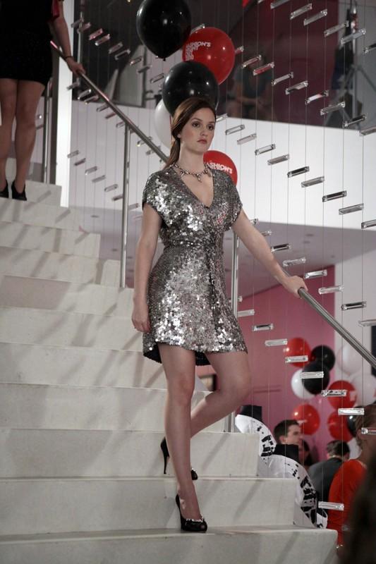 Leighton Meester in una scena dell'episodio The Undergraduates di Gossip Girl