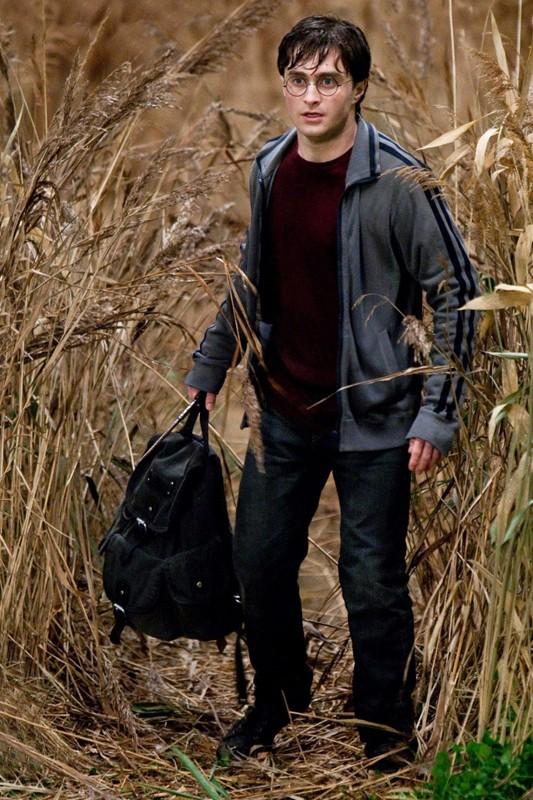 Daniel Radcliffe in un campo nel film Harry Potter e i Doni della Morte - parte 1
