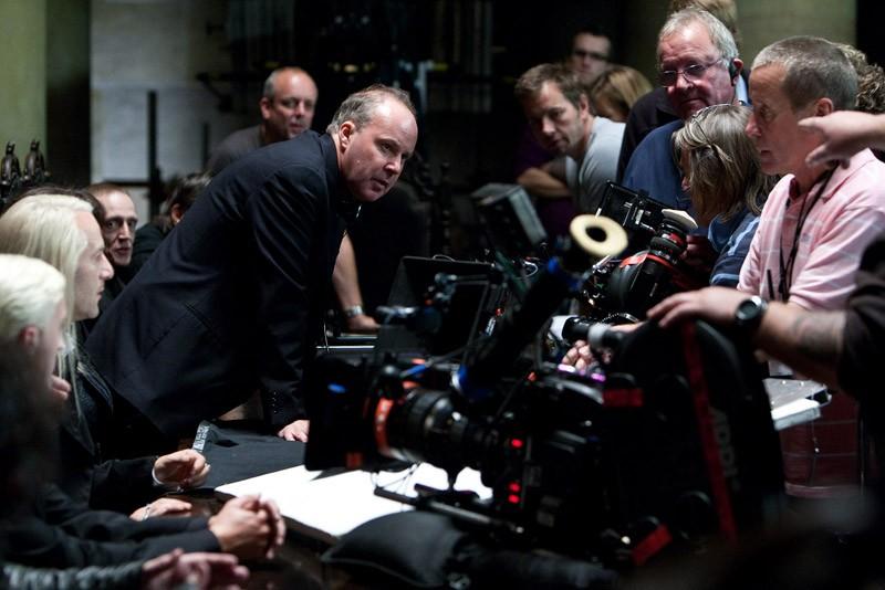 David Yates e parte del cast sul set di Harry Potter e i Doni della Morte - Parte 1