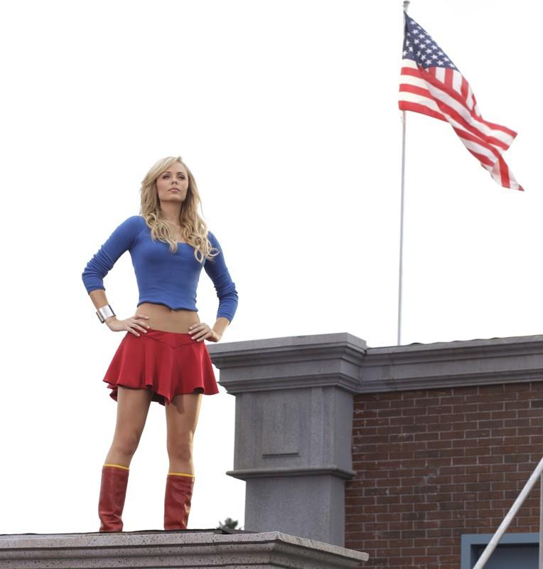 Supergirl (Laura Vandervoort) nell'episodio a lei dedicato di Smallville
