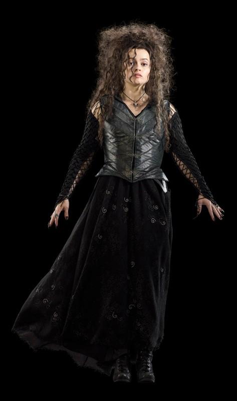 Una foto promo di Helena Bonham Carter (Bellatrix Lestrange) per il film I Doni della Morte - parte 1