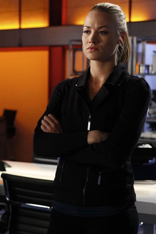 Yvonne Strahovski in una scena dell'episodio Chuck Versus the Cubic Z