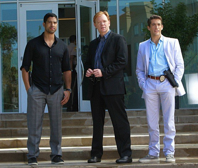 Adam Rodriguez, David Caruso e Jonathan Togo nell'episiodio Reality Kills di CSI: Miami