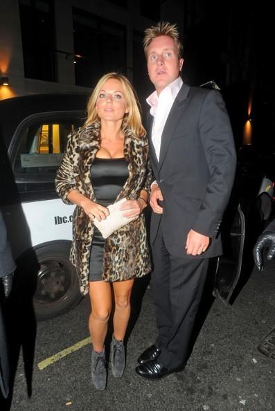 Geri Halliwell e il partner Henry Beckwith arrivano Mahiki night club in Mayfair