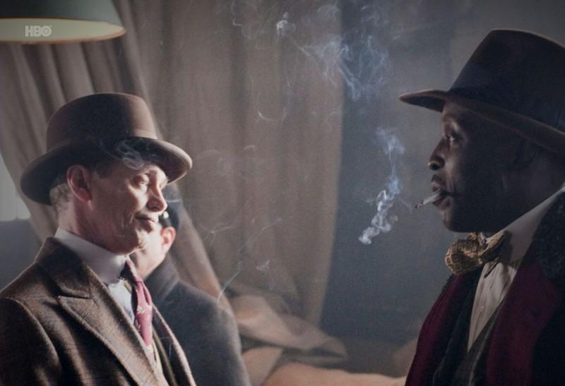 Steve Buscemi e Michael K. Williams nell'episodio Broadway Limited di Boardwalk Empire