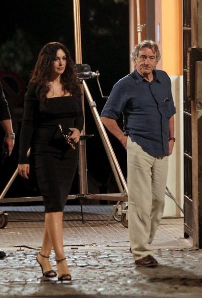 Monica Bellucci insieme a Robert De Niro sul set di Manuale d'Amore 3