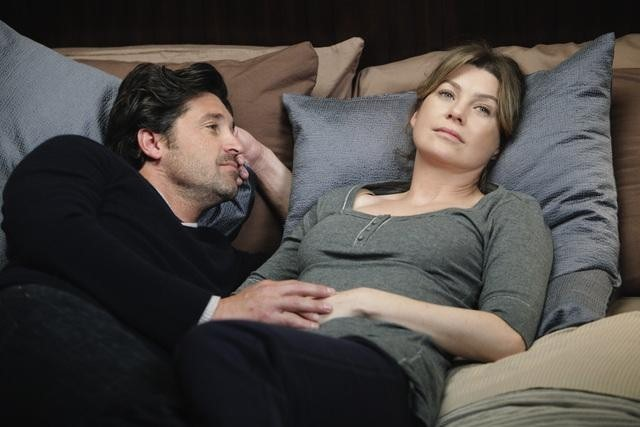 Patrick Dempsey e Ellen Pompeo in Can't Fight Biology di Grey's Anatomy