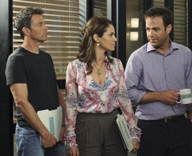Tim Daly, Amy Brenneman e Paul Adelstein nell'episodio Playing God di Private Practice