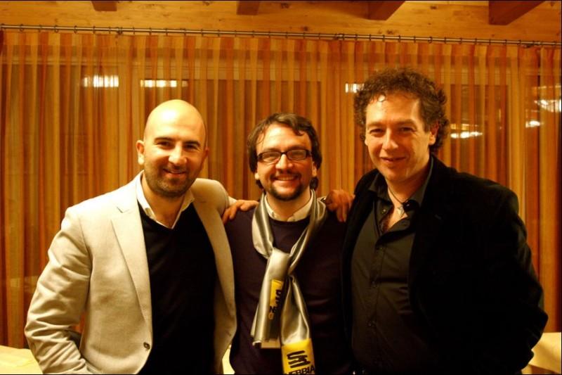 Nebbia Gialla: Donato Carrisi, Paolo Roversi e Massimo Smith. Foto di Michele Corleone / Studiocutup