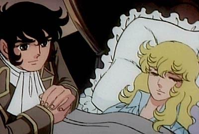 André e Oscar in una scena dell\'anime Lady Oscar
