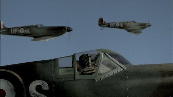 Aviatori in azione nel film Jackboots on Whitehall