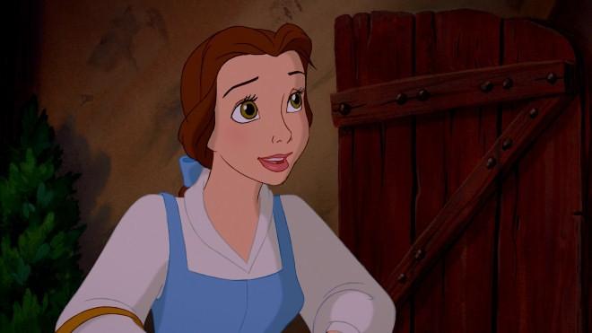 Belle in una scena del film d\'animazione La bella e la bestia del 1991