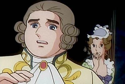 Il re Luigi XVI in una scena di Lady Oscar