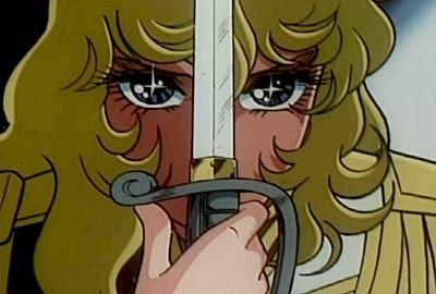 La protagonista in una sequenza dell\'anime Lady Oscar