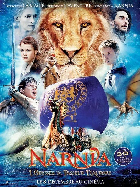 Nuova locandina francese per Le cronache di Narnia: Il viaggio del veliero