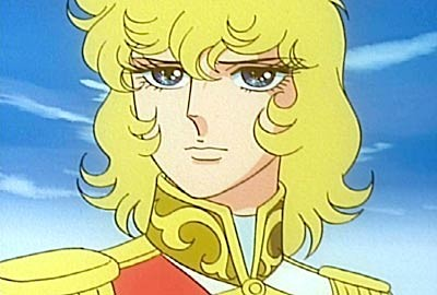 Primo piano della protagonista in una sequenza dell\'anime Lady Oscar (1979)