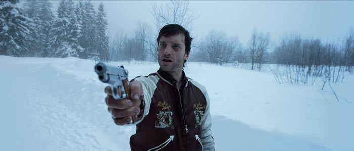 Thomas Wodianka in una scena del film Snowman's Land