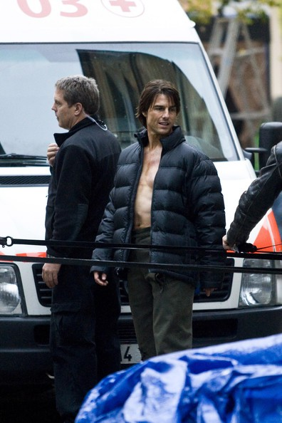 Tom Cruise sul set di Mission: Impossible IV a Praga