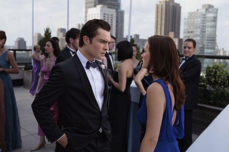 Chuck (Ed Westwick) e Blair (Leighton Meester) nell'episodio Touch of Eva di Gossip Girl