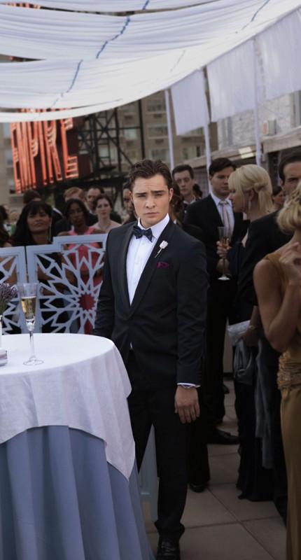 Chuck (Ed Westwick) in una sequenza dell'episodio Touch of Eva di Gossip Girl