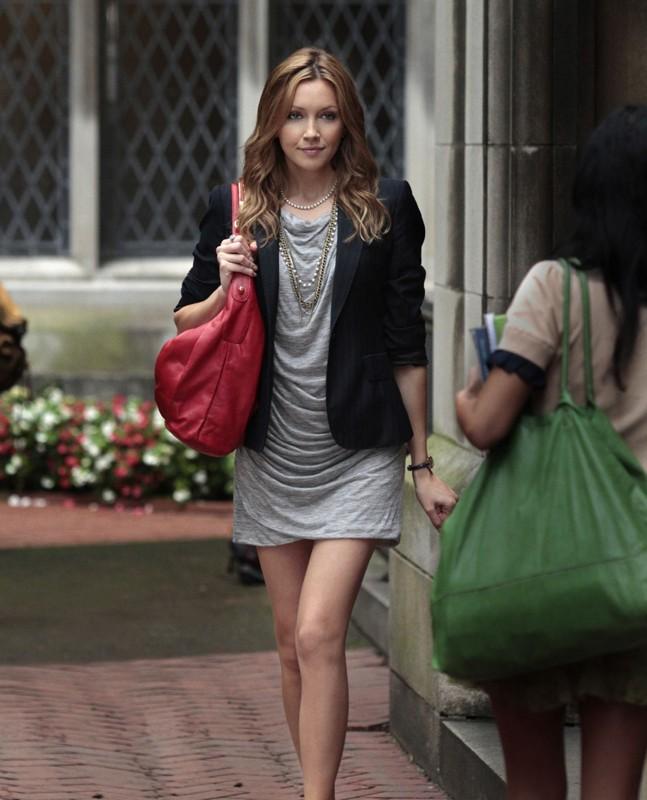 Juliet (Katie Cassidy) in una scena dell'episodio Goodbye Columbia di Gossip Girl
