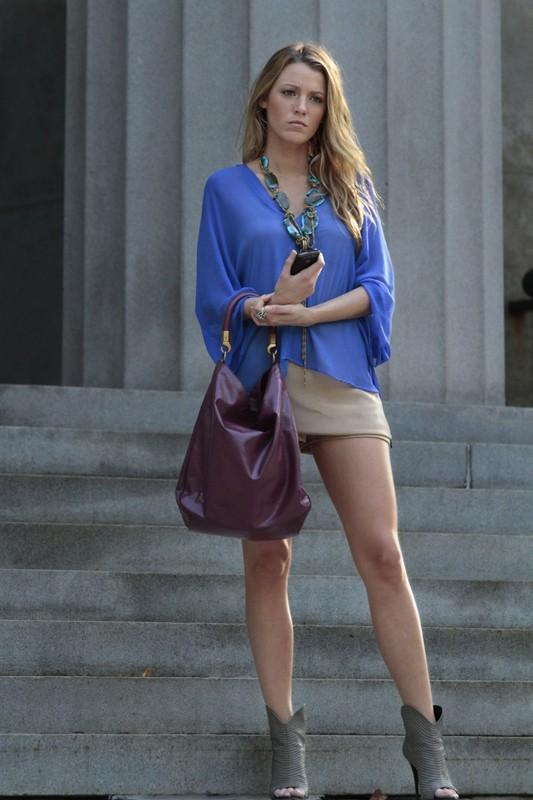 La bella Serena (Blake Lively) nell'episodio Goodbye Columbia di Gossip Girl