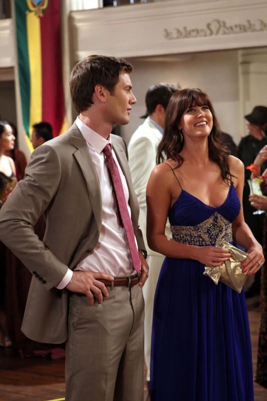 Ryan McPartlin e Sarah Lancaster nell'episodio Chuck Versus the Coup D'Etat