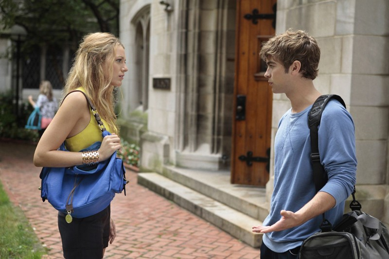 Serena (Blake Lively) parla con Nate (Chace Crawford) in Goodbye Columbia di Gossip Girl