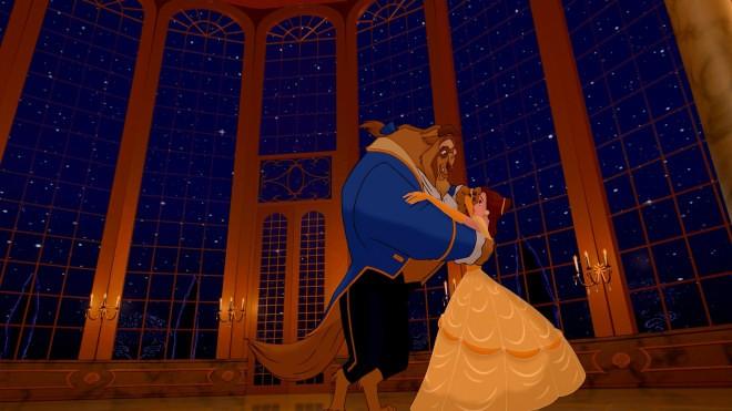La Bestia e Belle in una celebre scena del cartoon La bella e la bestia