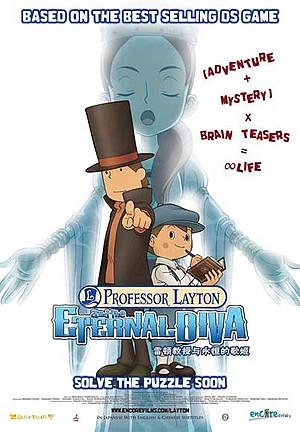 La locandina di Il Professor Layton e l'eterna Diva