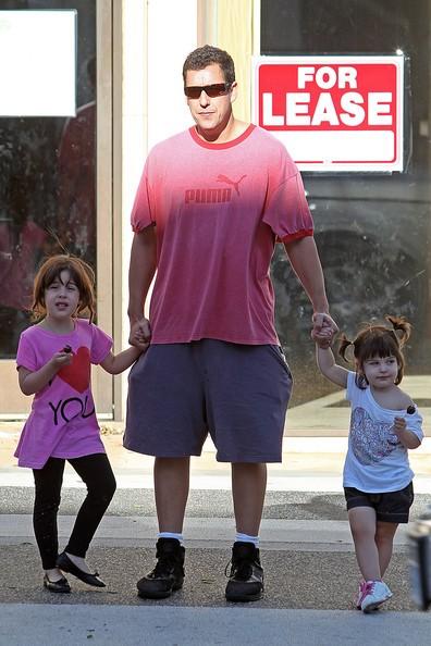 Adam Sandler con le figlie Sunny e Sadie a Beverly Hills