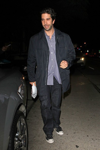 David Schwimmer a cena al ristorante Madeo a West Hollywood