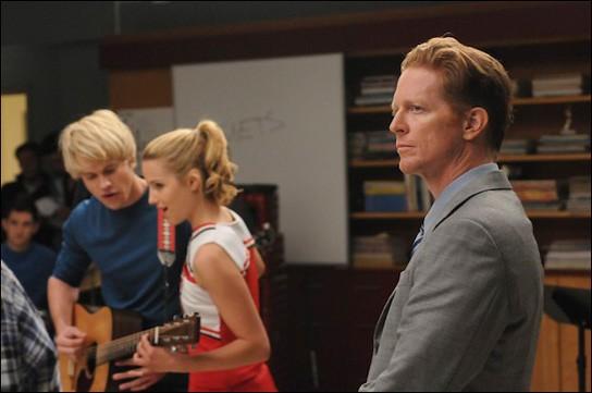 Eric Stoltz sul set dell'episodio Duets di Glee