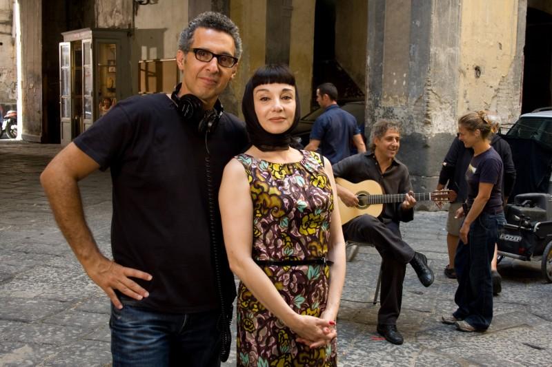 John Turturro con la cantante Misia sul set del film Passione
