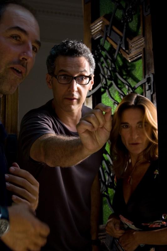 John Turturro e Lina Sastri sul set del film Passione