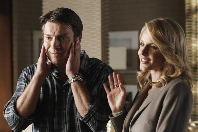 Nathan Fillion e Monet Mazur nell'episodio Anatomy of a Murder di Castle