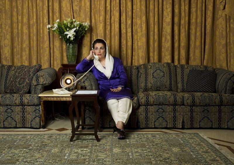Una scena del film Bhutto