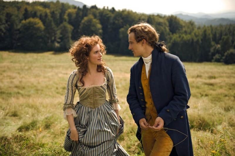Miriam Stein e Alexander Fehling nel film Goethe!