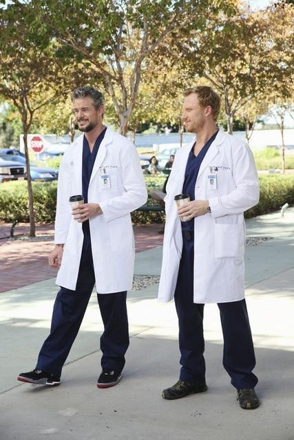 Eric Dane e Kevin McKidd in Grey's Anatomy nell'episodio These Arms of Mine