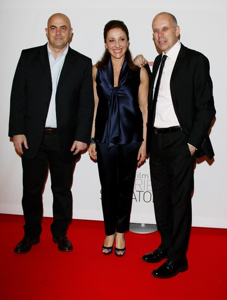 Maurizio Crozza, Carla Signoris e Gabriele Salvatores alla premiere di Happy Family