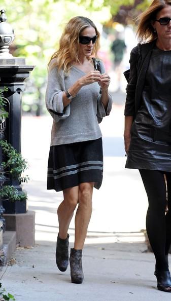 Sarah Jessica Parker con un'amica, fuori nel West Village
