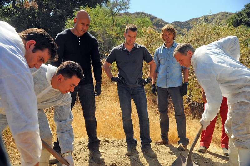 LL Cool J, Chris O'Donnell e Eric Christian Olsen nell'episodio Little Angels di NCIS: Los Angeles