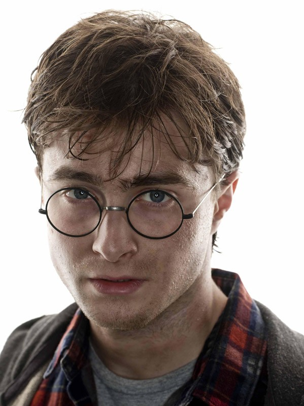 Un primo piano di Daniel Radcliffe per il film Harry Potter e i Doni della Morte - parte 1