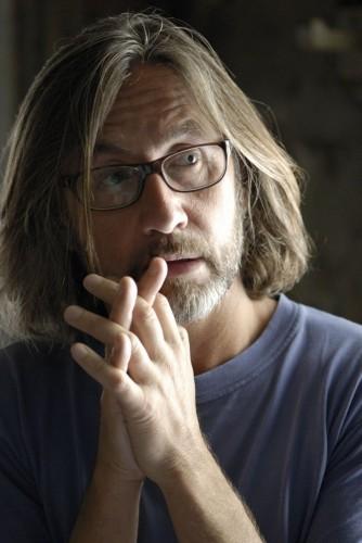 Il regista Martin Provost sul set del film Séraphine