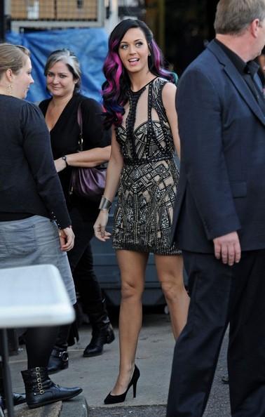 Katy Perry arriva ai Fountain studios per una performance nel programma X Factor