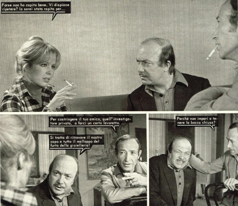 Nello Appodia con Michela Roc e J.M. Carletto nel fotoromanzo LANCIO LUKY MARTIN n. 70.1974