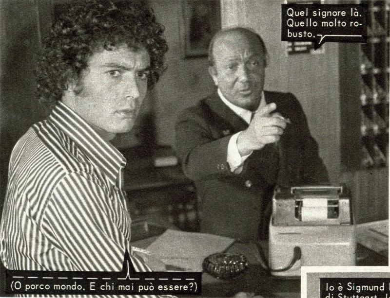 Nello Appodia e Franco Gasparri nel fotoromanzo JACQUES DOUGLAS n. 109.1974